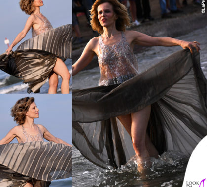 Sonia Bergamasco Venezia top gonna Armani