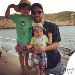 Thiago, Mateo e Lionel Messi costumi Vilebrequin