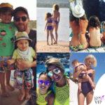 Genitori e figli vip, un'estate in pendant