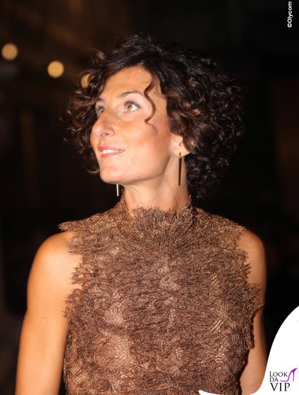 Agnese Landini Renzi Celebrity Fight Night Italy abito borsa Ermanno Scervino 4