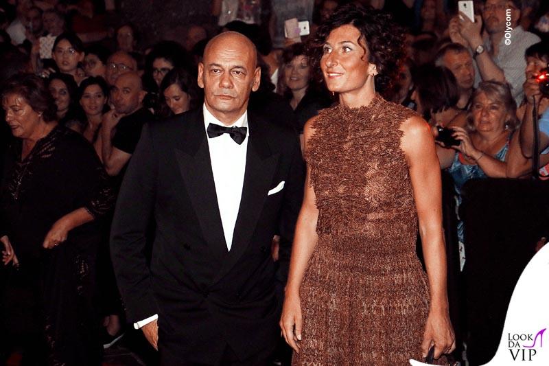 Agnese Landini Renzi Celebrity Fight Night Italy abito borsa Ermanno Scervino 5