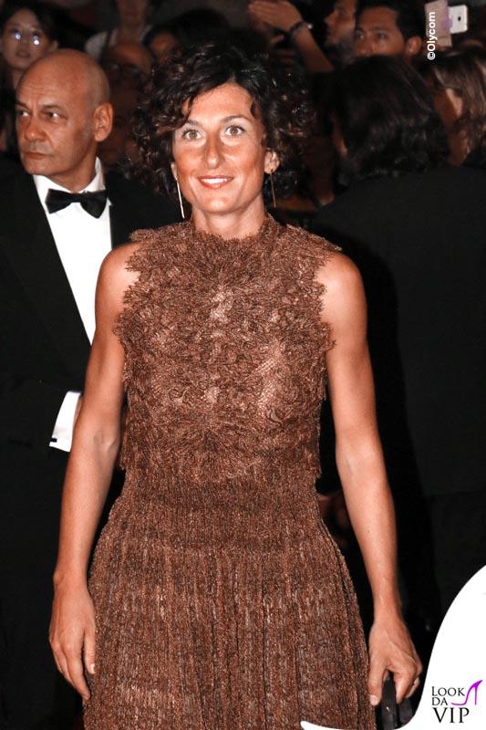 Agnese Landini Renzi Celebrity Fight Night Italy abito borsa Ermanno Scervino 7
