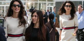 Amal Clooney ONU abito Gucci borsa Dolce & Gabbana
