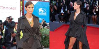 Bianca Balti Venezia trench Jean-Paul Gaultier per OVS gioielli Chopard