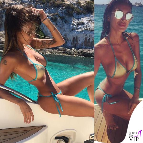 Cristina Buccino bikini dorato