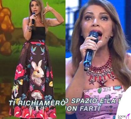 cristina-davena-colorado-seconda-puntata-gonna-leitmotiv-abito-ultrachic