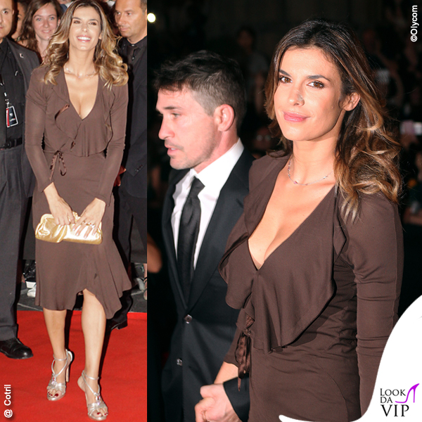 Elisabetta Canalis Celebrity Fight Night Italy sandali Giuseppe Zanotti Design