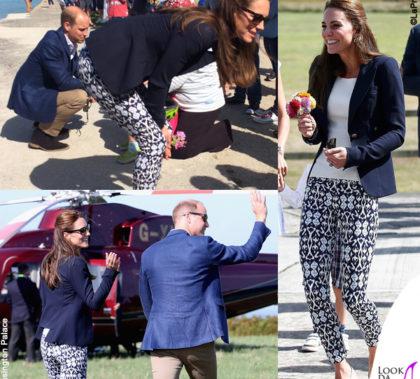 Kate Middleton pantaloni Gap blazer Smythe top HM scarpe Monsoon e Sebago