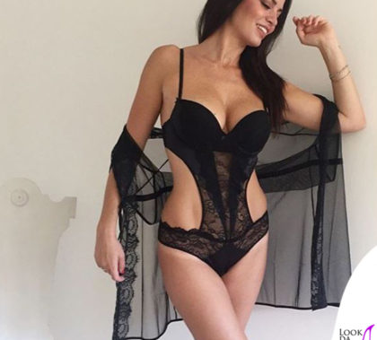 Laura Torrisi body vestaglia Yamamay