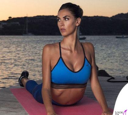 Melissa Satta reggiseno Nike