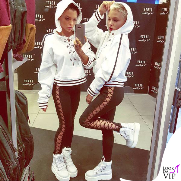 Silvia e Giulia Provvedi putfit Puma Fenty