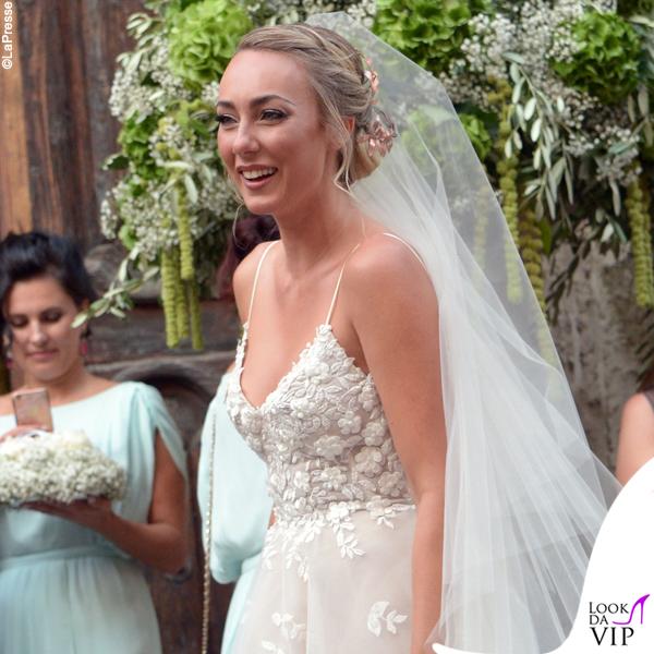 matrimonio Cristel Carrisi abito Monique Lhuillier 3