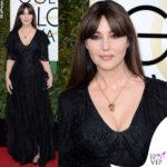 Monica Bellucci, diva spenta ai Golden Globe