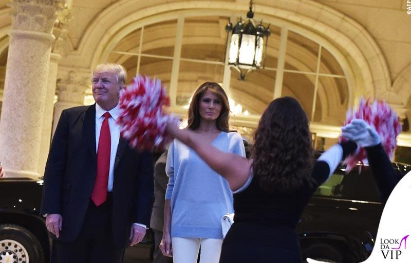 US President Trump watches Super Bowl LI