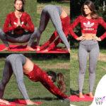 Dayane Mello, allenamento sensuale al parco