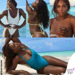 Serena Williams tra topless e bikini minimal