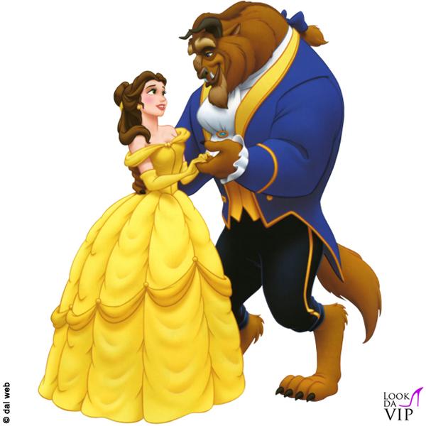 La bella e la bestia cartone animato disney 2 look da vip