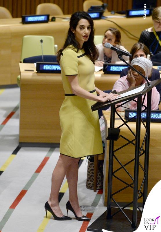 Amal Clooney alle Nazioni Unite