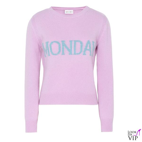 aspetto dettagliato d5554 4c37a maglione-alberta-ferretti-monday - Look da Vip