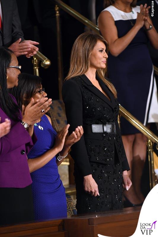 Melania Trump al primo discorso al Congresso