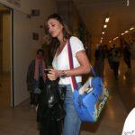Belen Rodriguez in tribunale a Milano per processo Corona