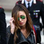 Processo Corona: Belen Rodriguez esce dal tribunale