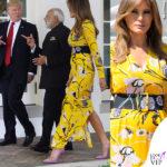 Melania Trump batte Modi con il giallo Pucci