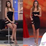 Belen Rodriguez abito Antony Vaccarello