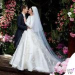 Miranda Kerr, nozze da regina con l'abito Dior