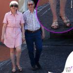 Theresa May in Italia, con passo maculato