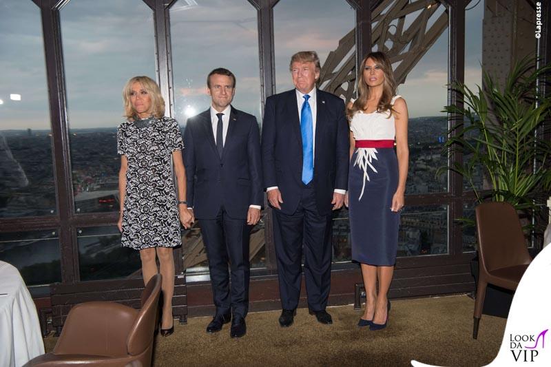 Macron e Trump a cena sulla Torre Eiffel
