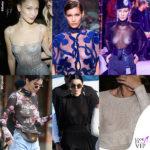 Bella e Kendall in topless tra le trasparenze