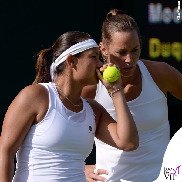 Conny Perrin e Tara Moore a Wimbledon