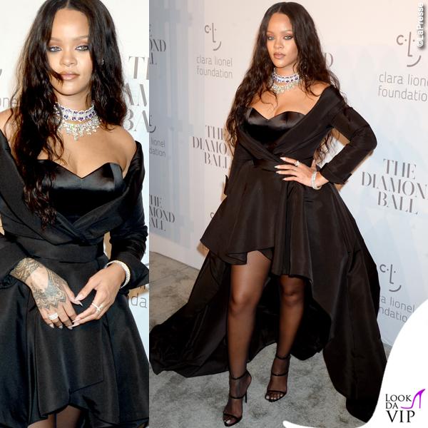Rihanna al Diamond Ball, abito Ralph & Russo