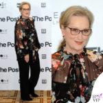 Meryl Streep convince Milano coi fiori