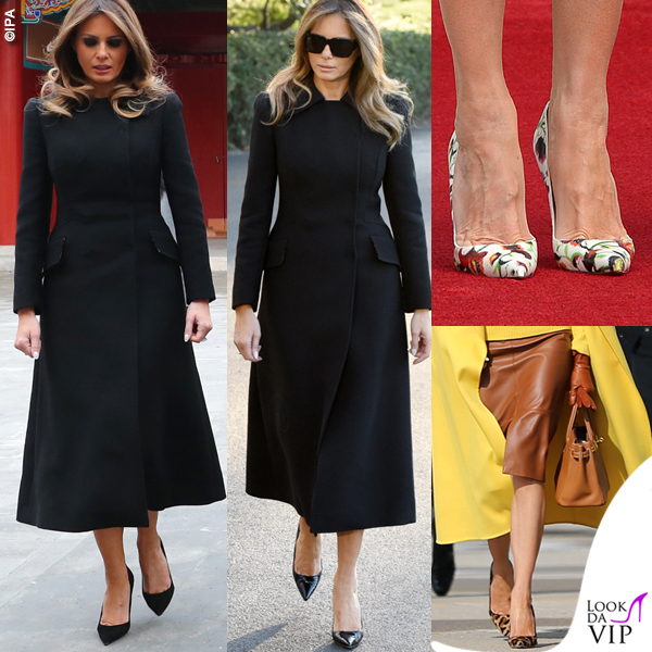 Melania Trump cappotto Dolce e Gabbana scarpe Christian Louboutin 1