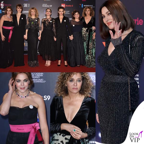 David di Donatello 2018 Claudia Gerini Dolce & Gabbana Valeria Golino Valentino Monica Bellucci Balmain