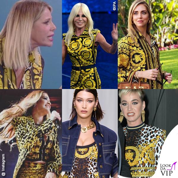Marcuzzi Versace Ferragni Ora Hadid Perry Versace Barocco Print