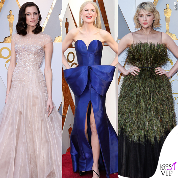Oscar 2018 Allison Williams Nicole Kidman abiti Armani Privé Haley Bennett abito Dior