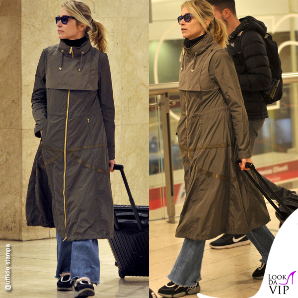 Stefania Rocca overcoat DIEGO M scarpe Prada