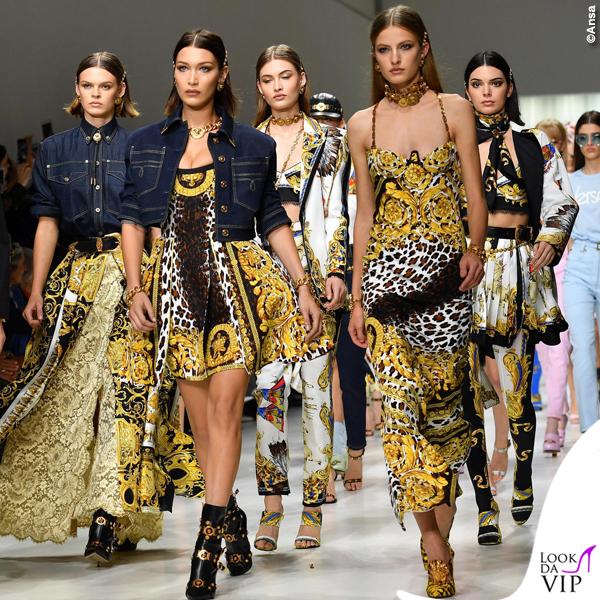 sfilata Versace SS18