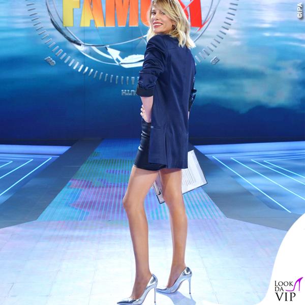 Alessia Marcuzzi Isola top Topshop gonna Nude giacca Haider Ackermann scarpe Casadei 2