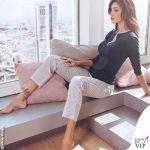 Belen Rodriguez pigiama Jadea