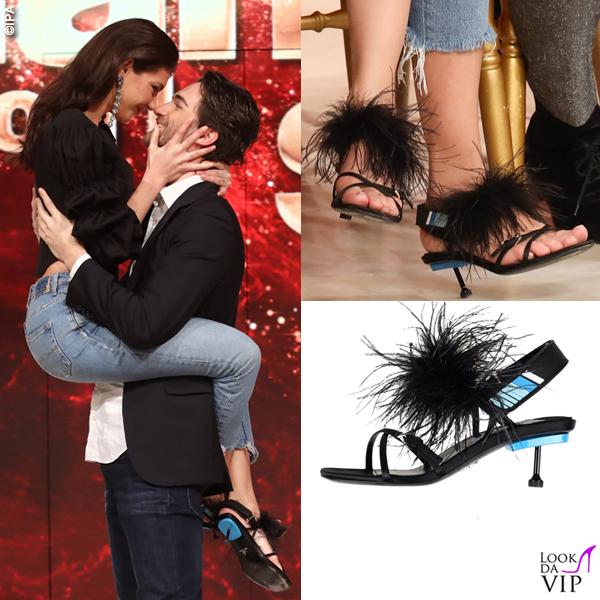 Cristina Ich Presentazione Ballando con le Stelle sandali Prada