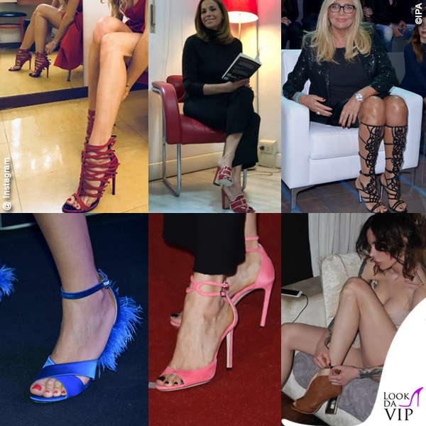 Eleonora Pedron Cristina Parodi Mara Venier Nina Moric Caterina Balivo Luisa Ranieri scarpe piedi protagonisti
