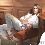 Elisabetta Canalis in pigiama