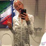 Fedeica Pellegrini in pigiama