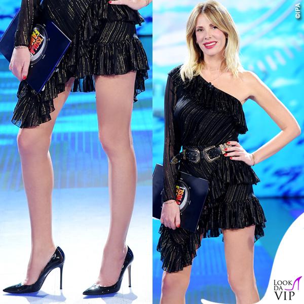Isola 11 puntata Alessia Marcuzzi abito Philosophy scarpe Gianvito Rossi 5