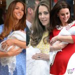 Kate Middleton mostra il terzogenito in rosso
