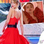 Alessia Marcuzzi come Madonna all'Isola